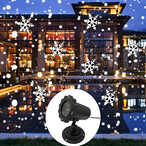 TYSYA Kerstsneeuwvlo LED licht dynamische sneeuw beamer waterdicht buiten tuinlamp voor het nieuwe jaar party thuis decoratie