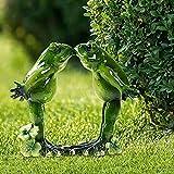 Alextry - Adorno de rana, rana, escultura, jardín e interior decorativo, 3D Yoga rana, Figura...