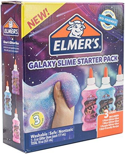 Elmer's Glue Deluxe Slime Starter Kit, Clear School Glue & Glitter Glue Pens, 3 Count
