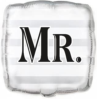 """Unique Wedding MR Square Foil Balloon, Multi, 45cm (18"""")"""