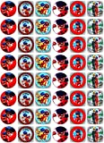 48 Muffin & Cupcake Aufleger vorgestanzt Fondant Miraculous Ladybug C2