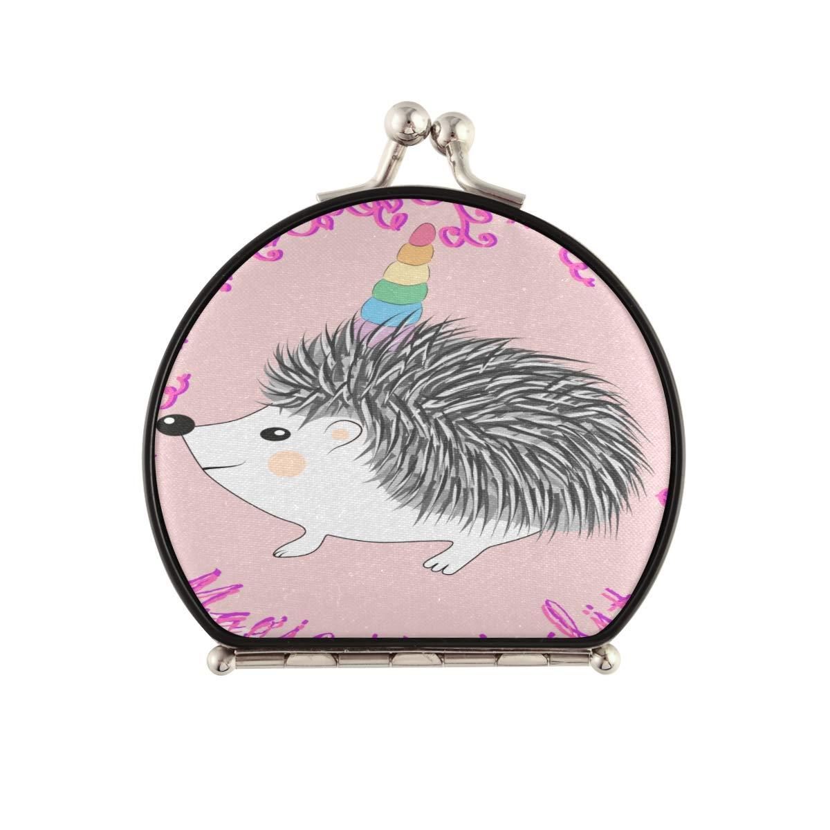 Magnifying Compact Cosmetic Mirror Hedgehog Cute Unicorn Max 47% OFF Ranking TOP7 Cartoon