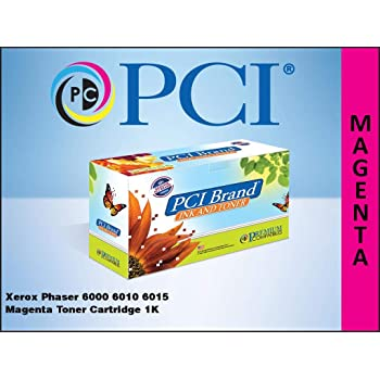 PCI Brand Compatible Toner Cartridge Replacement for Xerox 106R01628 Phaser 6010 Magenta Toner Cartridge 1000 Page Yield