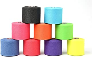 Outdoor Sport Pre-wrap Variety Pack (Black,  Teal,  Pink,  Orange,  Lime,  Blue,  red,  Purple and Sunburst Yellow) Model: