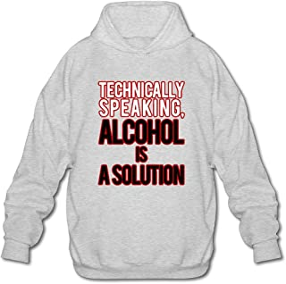 MPIQW Mens Alcohol is A Solution Hoodie Workout Pullover Sweatshirt