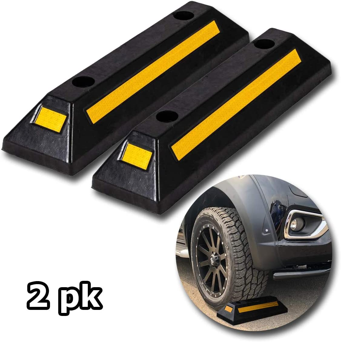 VaygWay Rubber Great interest Parking Excellence Curb Guide Car Heavy Duty –