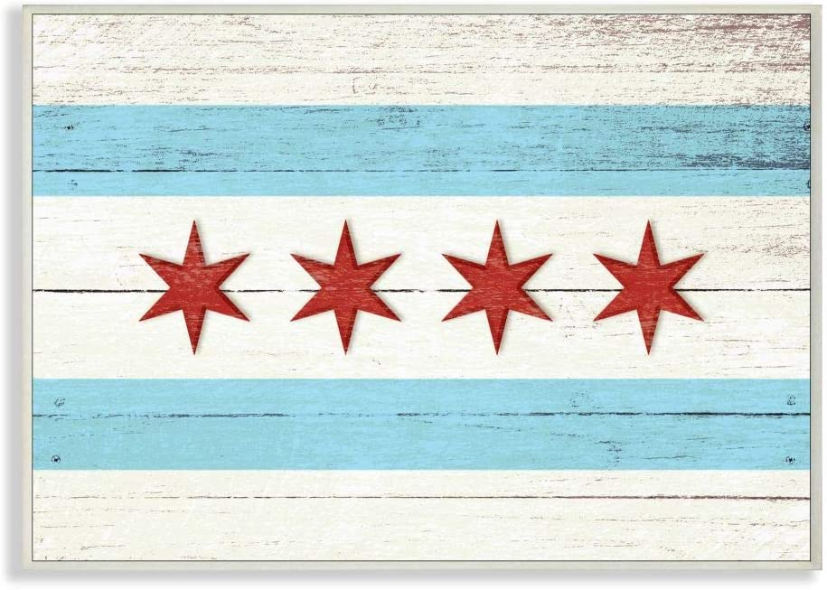 Stupell Mail order cheap Industries Chicago Flag Distressed Wood Look Wall Plaque Ranking TOP4