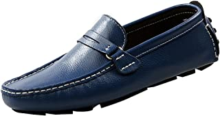rismart Men's Work Place Slip on Leather Loafers Shoes