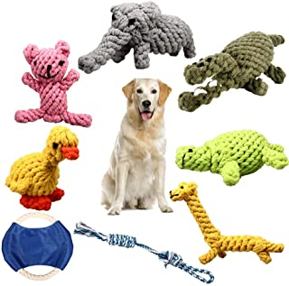 ZOUTOG Puppy Chew Toys, Set of 8 Dog Rope Toys for Aggressive Chewers, Dog Toys with Safe Material for Small/Medium/Large ...