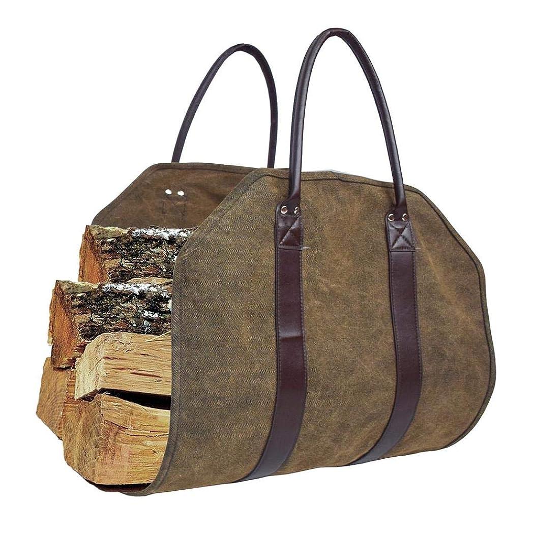 不屈ユダヤ人同僚薪トートバッグ キャンバスロギングバッグ ポータブル薪収納バッグ 小型ロギングバッグ 木材仕上げバッグ 強い摩耗 持ち運び用バッグ 折りたたみできる ハンドル付き