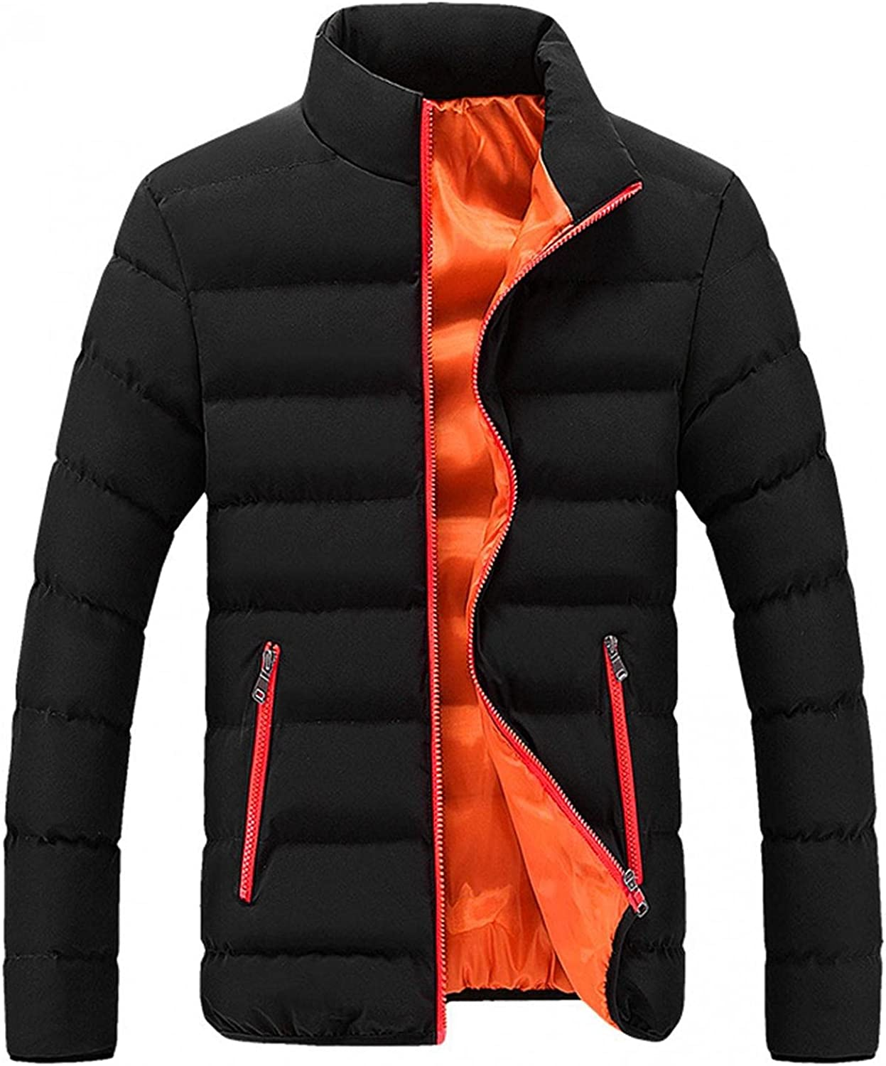 XUNFUN Men's Lightweight Packable Down Jackets Classic Fit Breathable Quilted Puffer Jacket Full Zip Thermal Winter Coat