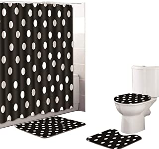 Best black and white polka dot bathroom accessories Reviews