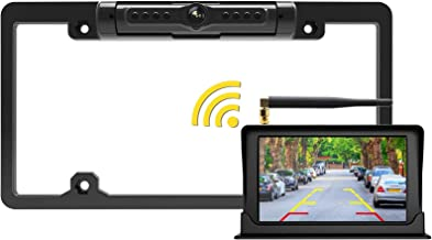 $89 » FOOKOO 2ND Wireless Backup Camera with 5 inch HD Monitor License Plate Backup Camera with Frame for Car SUV Truck Pickup R...