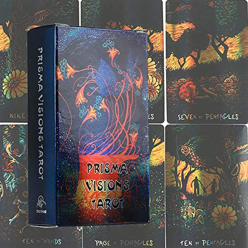 GUOHAPPY Prisma Visions Tarot Cards: Tarot Deck 78 Cards Family Party Board Games, Fun Game Card Sets English Version