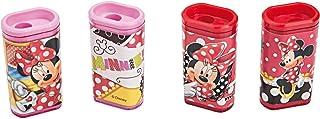 Apontador Com Deposito Decorada Minnie 1 Furo Sortidos - Pote com 36 Molin, Multicor