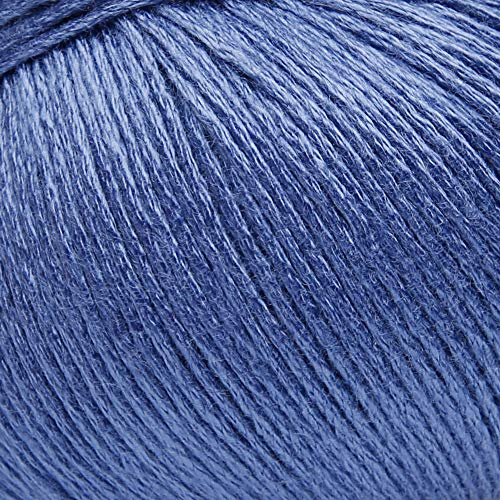ggh Bambu, Farbe:011 - Denim Blau, 100% Bambus (Viskose), 50g Wolle als Knäuel, Lauflänge ca.125m, Verbrauch 500g, Nadelstärke 2,5-3, Wolle zum Stricken und Häkeln
