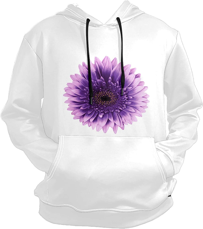 Men's Sport Hoodie Black Purple Sunflower Flower Big and Tall Hoodies for Men Women Oversized Hooded Sweatshirt Hip Hop Pullover Hoodie Midweight Hood for Boys Girls