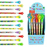 Tiny Mills 24 Pcs Christian Religious Multi Point Pencils Jesus Loves You Multi Point Stackable Push Pencil Assortment with Eraser for Sunday School Party Favor Prize Carnival Rewards Religious Prizes