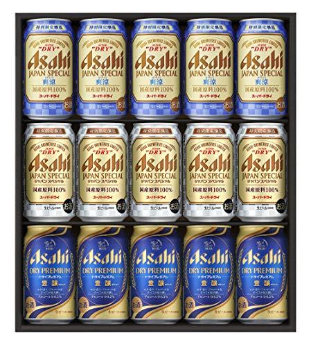 【ギフトに】アサヒビール3種バラエティトリプルセット(JSP-4) [ ビール 350ml×15本 ] [ギフトBox入り]