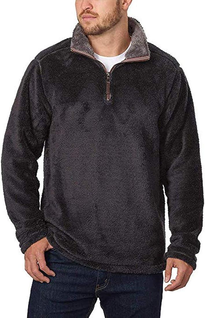 Trinity Men's Plush ¼ Zip Pullover (M, Black)