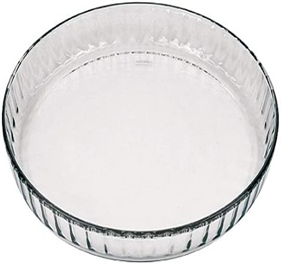 Marinex Glass Fluted Flan or Quiche Dish