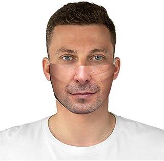 eiuEQIU 5er Pack Set Unisex Wendbar Mundschutz Mund und Nasenschutz mit 20 fil-TER Baumwolle Waschbar Anti-Spuck Mund Shield Atmungsaktiv Gesichtsvisier Face Gesichtsschutz