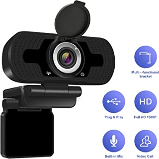 Anivia 1080P Full HD Webcam with Webcam Cover, Cámara para computadora portátil para conferencias y videollamadas, cámara Web Pro Stream con videollamadas Plug and Play, micrófono Incorporado
