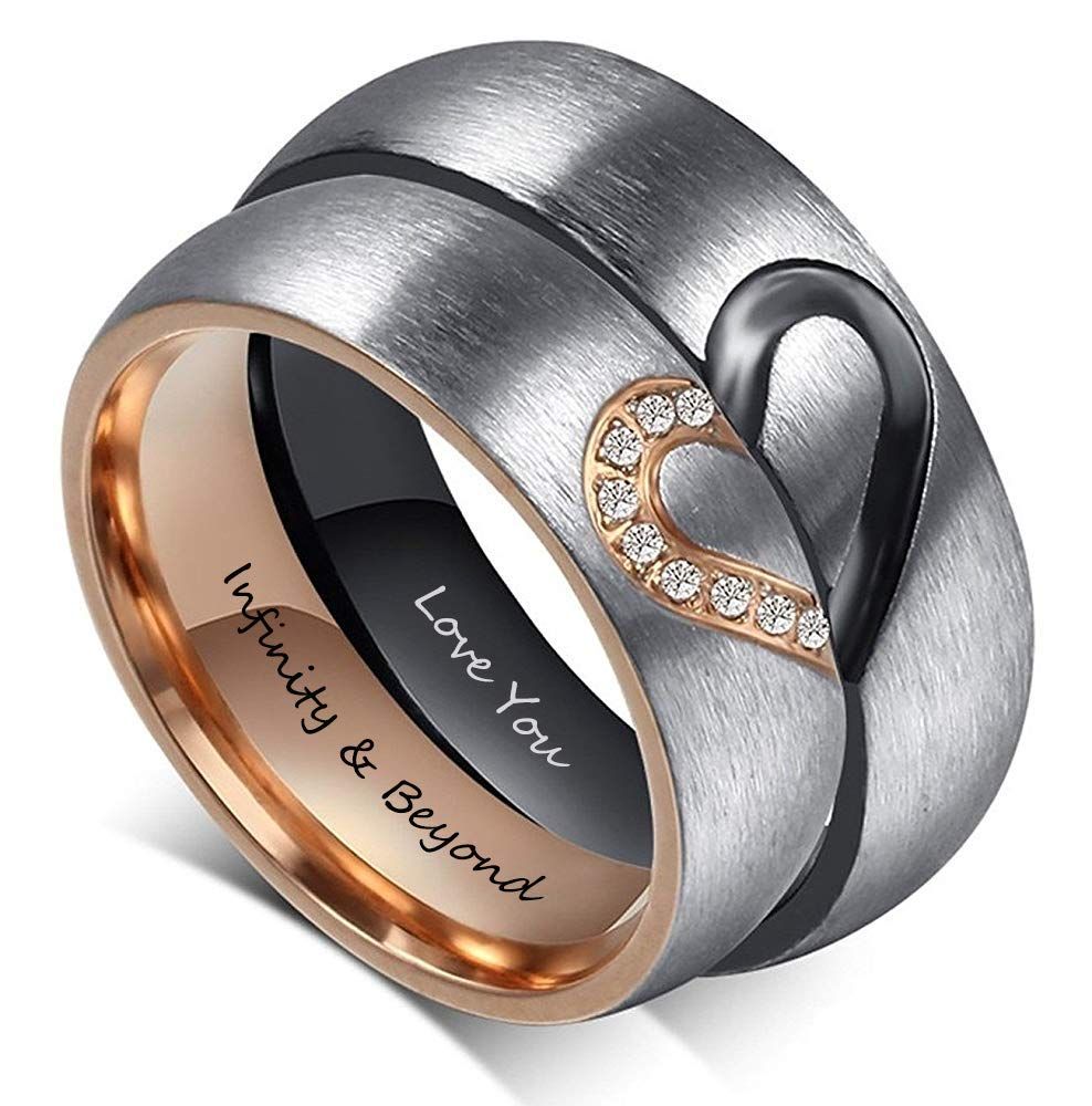 Fortheday Personalized Engraving Stainless Engagement