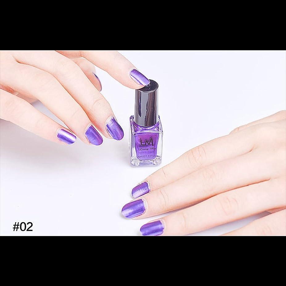順応性擁する季節hjuns-Wu マニキュア パール感 1ボトル 6ml ネイルポリッシュ (紫)