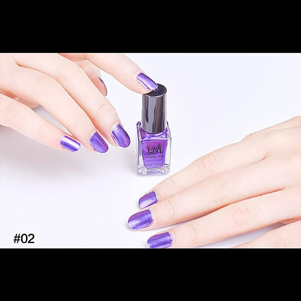 ドル要求するレーダーhjuns-Wu マニキュア パール感 1ボトル 6ml ネイルポリッシュ (紫)
