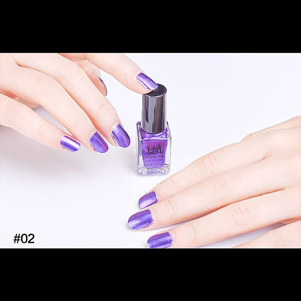 乱闘中央値火hjuns-Wu マニキュア パール感 1ボトル 6ml ネイルポリッシュ (紫)
