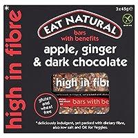 (Eat Natural (自然を食べます)) グルテンフリーのリンゴ、ジンジャー、ダークチョコレートバー3×45グラム (x6) - Eat Natural Gluten Free Apple, Ginger, Dark Chocolate Bars 3 x 45g (Pack of 6) [並行輸入品]