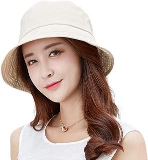 SIGGI Womens UPF50+ Linen/Cotton Summer Sunhat Bucket Packable Hats w/Chin Cord