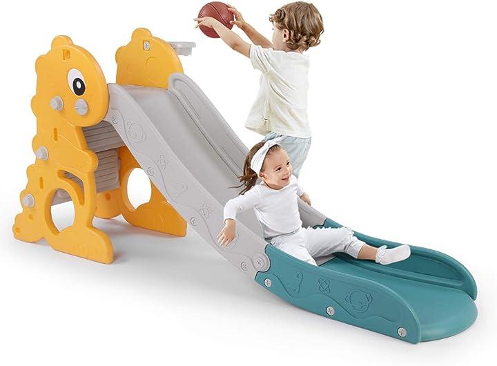 Scivolo per bambini scivolo per 1-5 anni, diverdenti stabile e sicuro lazy buddy B08X1YBX5P