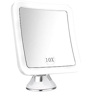 Tweezerman Specchio Illuminato con ingrandimento 15/X con luce LED Batterie incl ottico correttamente