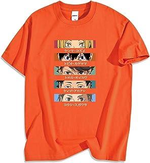 Camiseta Haikyuu con Ojos Divertidos, Camiseta de Dibujos Animados para Hombres, Japón, Anime, Moda, algodón, Casual, Cami...