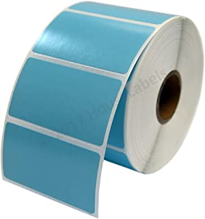 """Zebra/Eltron Compatible 2.25"""" x 1.25"""" Blue Direct Thermal Labels - ONE (1) Roll; 1,000 per Roll - 2.25 x 1.25 Labels (2-1/4"""" x 1-1/4"""") - BPA Free!…"""