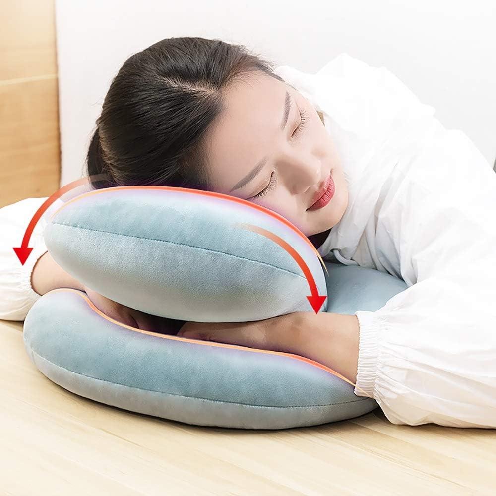 SYJH Oreiller Confort Coussin orthopédique Confortable avec Mousse à mémoire Extensible, Respirant, Lavable Double-Trous, conçu for Neck Back Pain (Couleur : Orange) Gris