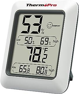 ThermoPro TP50 Digitale thermo-hygrometer, hygrometer, binnenthermometer, kamerthermometer met registratie en binnenklimaa...