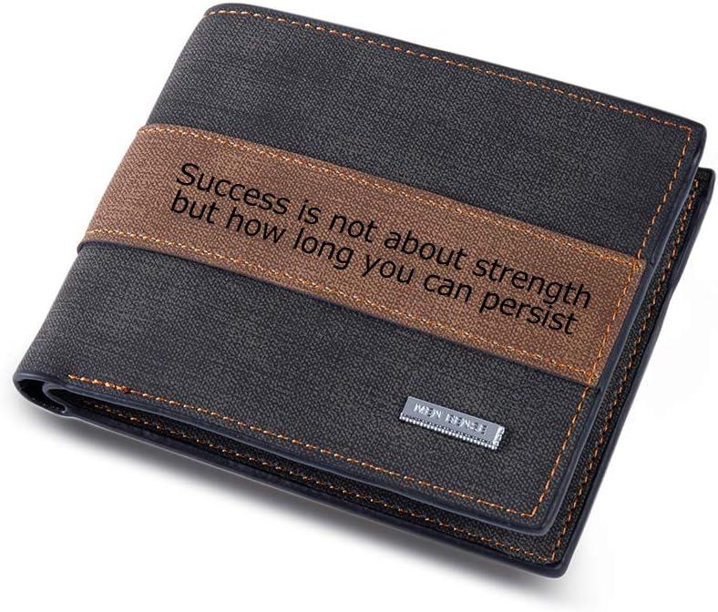 Personalized Wallet for Men LAGOFIT Custom Wallets for Men, Men's Wallet Custom Engraved Text Wallet Casual Bifold Wallet Personalized Gifts for Dad, Husband, Boyfirend (Black)