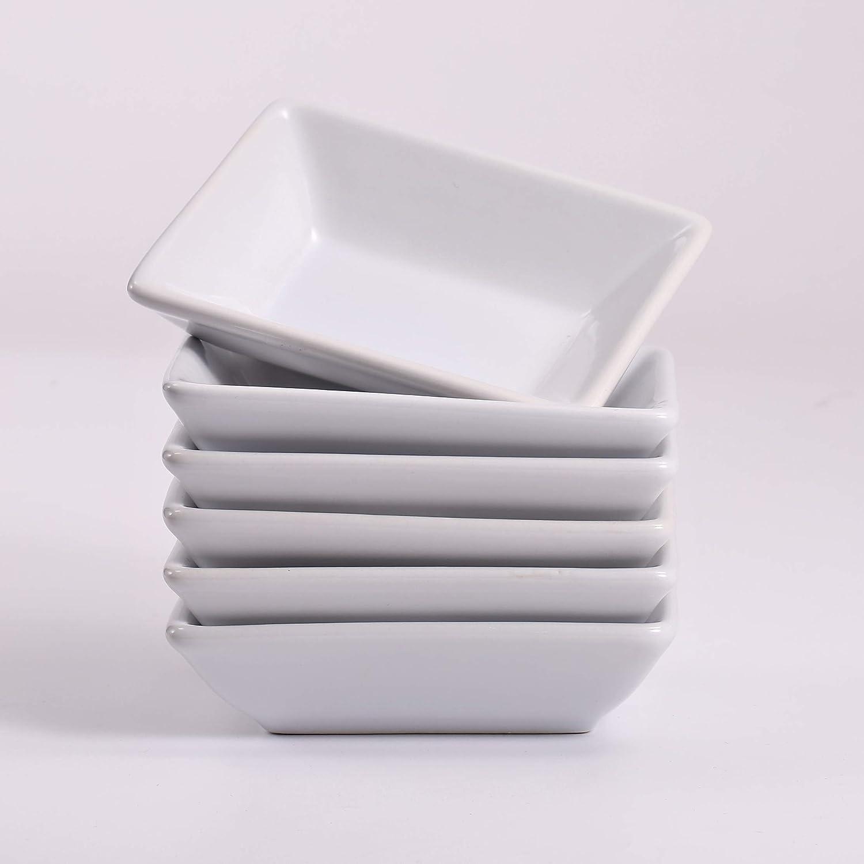 Weiss Urban Lifestyle 6 x Saucensch/älchen Momo rechteckig aus Porzellan