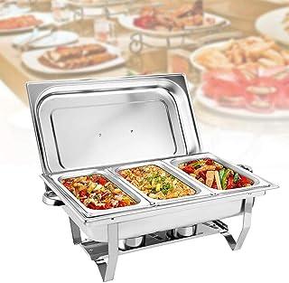 MINUS ONE Chafing Dish Chauffe-plat en acier inoxydable avec récipient de maintien au chaud, récipient chauffant, appareil...
