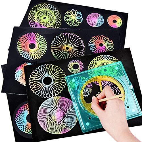 Stobok 11 piezas espiral Stencil Set Dibujo Regla Plantillas DIY Set Artesanía...