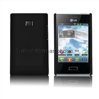 Carcasa Funda Dura Negra LG Optimus L3 E400