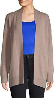 Vince Drop Shoulder Wool/Cashmere Cardigan Sweater, Wet Sand