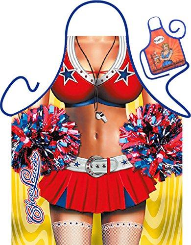 Cheerleader – Tablier humoristique Fun Party et mini pour à la bouteille