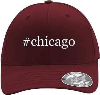 #Chicago - Men's Hashtag Flexfit Baseball Cap Hat