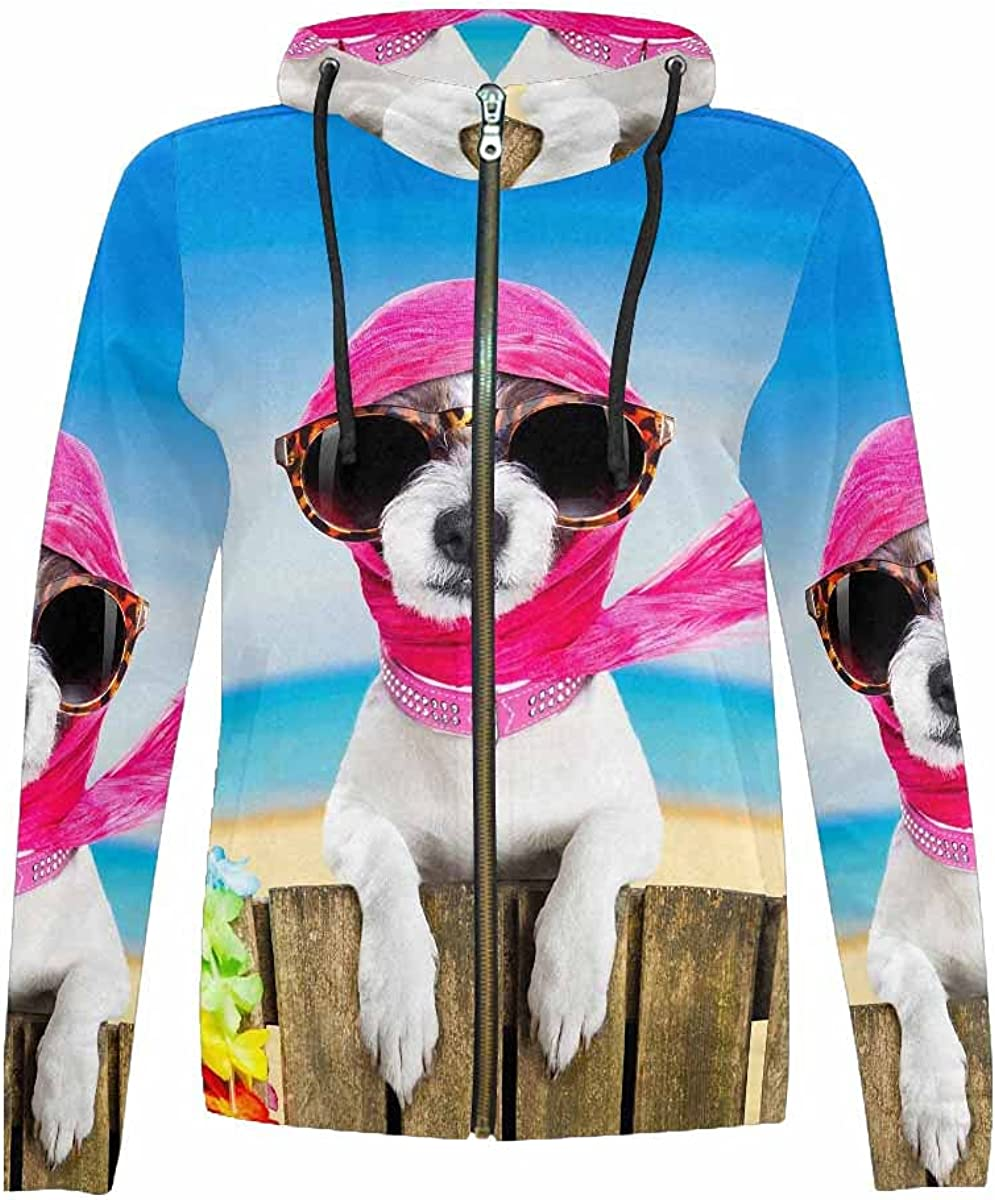 Colorado price Springs Mall InterestPrint Terrier Dog Resting Hooded Relaxing Sweatshirt and