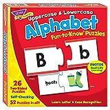 トレンド 英単語 パズル アルファベット 大文字と小文字 Trend Fun to Know Puzzles Alphabet Uppercase Lowercase T-36010