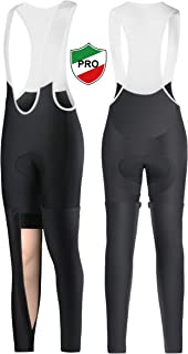 Ceroti Thermal Cycling Tights Bike Pants with Removable Leggings Bibs Knickers Optional